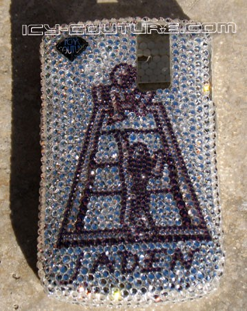 Jaden's Ladder - Whats Your Logo? Swarovski crystal custom phone covers by Icy Couture
