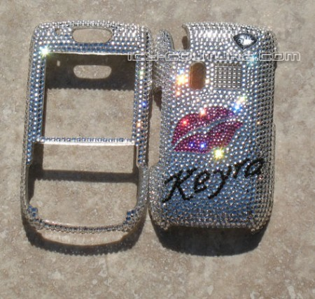 Love and Kisses! - Swarovski bedazzled design on your phone