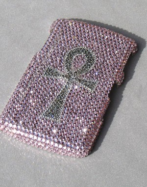 Ankh - Egyptian symbol for protection - Swarovski phone cover