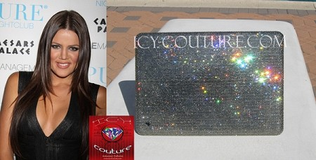 Khloe Kardashian ICY Couture Crystal Laptop Cover