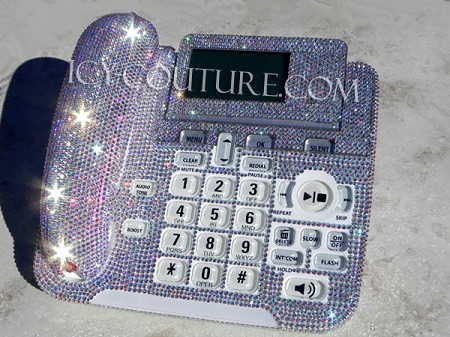 ICY Couture Crystal AB Swarovski Crystal Bling Home Office Desk Phone