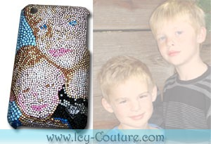 Custom Crystal Portrait of YOUR KIDS Faces on small spaces!
