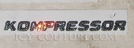 Crystal KOMPRESSOR emblem - Bling Your Mercedes! Whats your color?