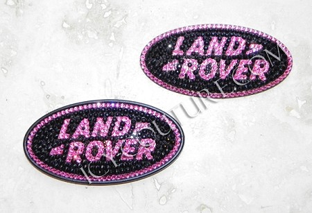 Super-Girly ICY Land  Rover Oval Logo Emblem. What Your Crystal colors?