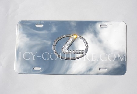 Crystal LEXUS 3D Logo License PLATE. Whats your color?