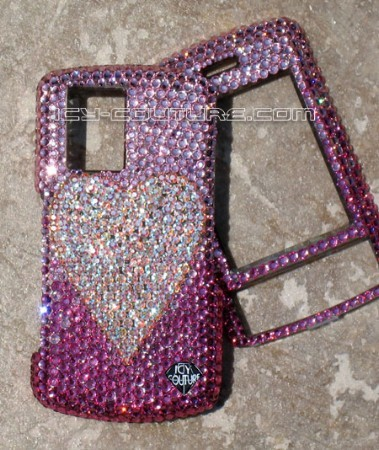 I Heart U - Swarovski crystal phone covers by Icy Couture