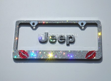 XOXO - Swarovski Crystals License Plate Frame