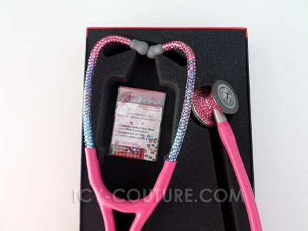 Littmann Cardiology III Stethoscope with Swarovski Crystals - Barbie Ombre