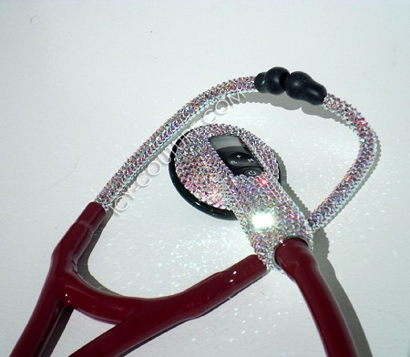 LAMBO OF STETHOSCOPES - Custom Littmann Electronic with Swarovski Crystals