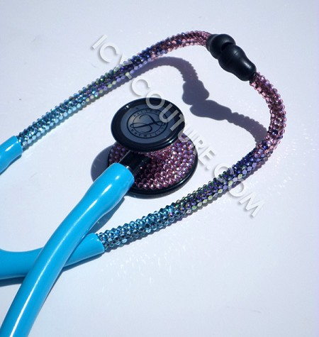 Custom Crystal Littmann Cardiology Ombre Stethoscope with Swarovski Crystals