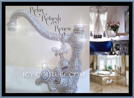 Custom ICY Couture Faucet with Swarovski Crystals. Whats your color?