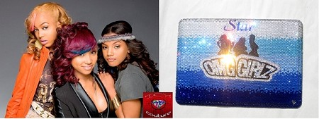 ICY Couture OMG GIRLZ Crystal Laptop Cover bedazzled with Swarovski Crystals! Whats Your Logo?