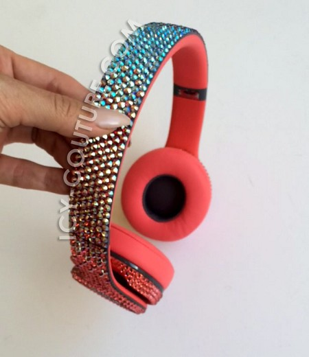 Padparadsha Ombre Beats with Swarovski Crystals! Select Your Beats.