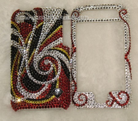 """Passion Swirls"" Swarovski crystal bedazzled phone cover"