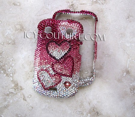 """FALLING FOR YOU"" Bedazzled Crystal Phone covers by ICY Couture. Bling Phone!"