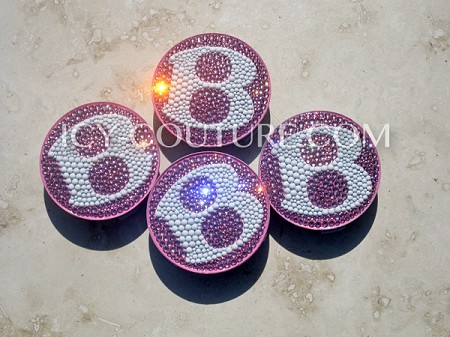 ICY Couture Swarovski Crystal Bentley Rim Caps. Pink, Black - Any color!