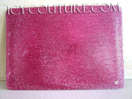 ICY COUTURE - Solid Rose Swarovski Crystal Macbook Pro Cover. Whats Your Color?