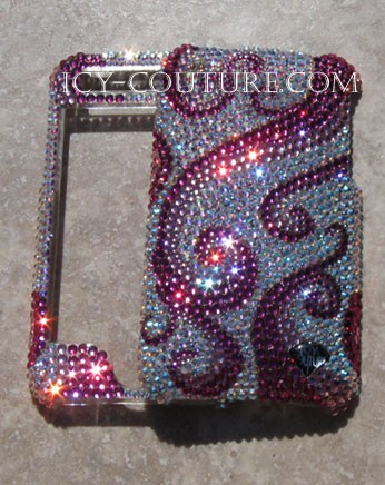 Organic Waves - Exclusive ICY Couture Swarovski Crystal phone design