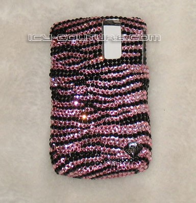 PINK ZEBRA Swarovski Crystal phone cover by ICY Couture. Whats Your Colors?