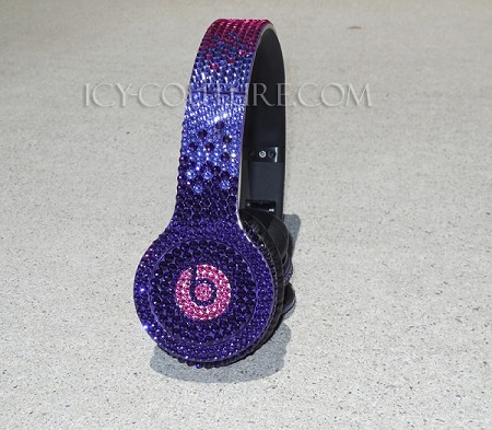 Purle Bling Ombre Crystallized Beats with Swarovski Crystals
