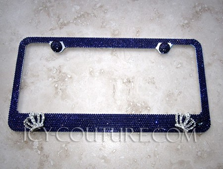 QUEEN B License Plate Frame Swarovski Crystals. Select Your Color!