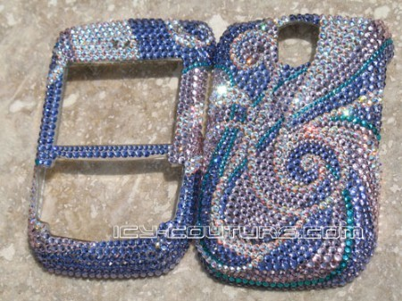 Bling Phone! Purple Swirls -Swarovski crystal Icy Couture design