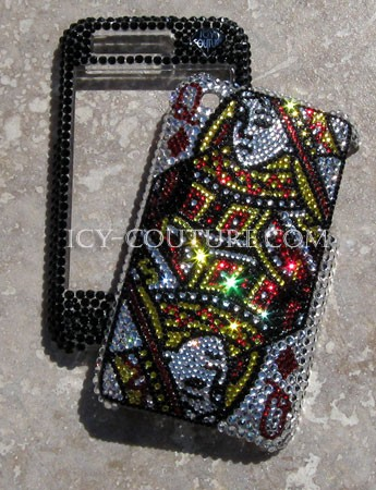 Queen of Diamonds- Swarovski crystal iPhone cover