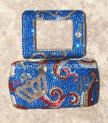 "pre-made Sidekick Slide crystal faceplate ""Royal Queen"""