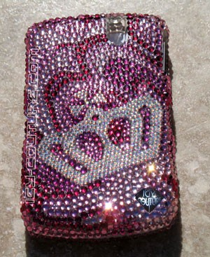 Royal Waves Swarovski crystallized phone cover. Bling My Phone!