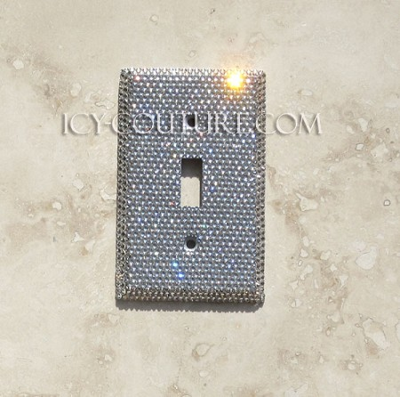 Crystal Clear Single Light Switch Cover Plate. Whats Your Color?