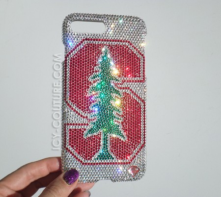 STANFORD UNIVERSITY - ICY Couture Swarovski Crystals Phone Design. Select Your Phone