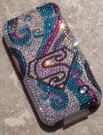 """Super Girl"" Crystallized phone covers by Icy Couture"