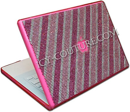 Lucky Stripes -   bedazzled Crystal Laptop Case by Icy Couture