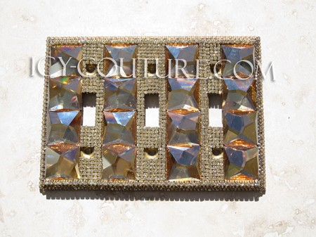 Gorgeous ICY Couture Swarovski Crystals & Shapes Light Switch Cover. Select Your Switch Type. Whats your color?