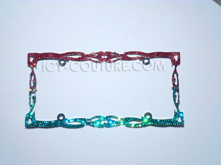 Custom Colors Ombre TWILIGHT Swarovski Crystals License Plate Frame