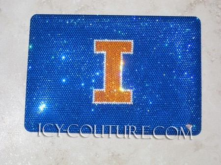 University of Illinois ICY COUTURE bedazzled Laptop Crystal Cover Case