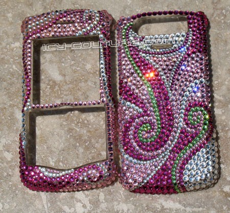 """Winds of Spring"" Blackberry Pearl 8130 crystal faceplate"