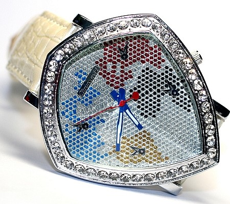 HUGE Bling-Bling Fashion Unisex  Watch - Yellow Diamond